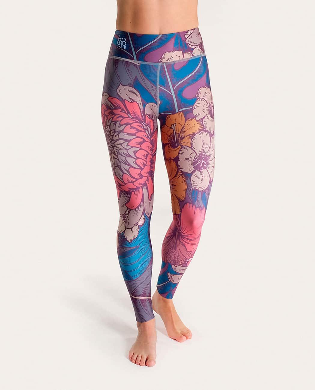 Blossom Yoga Leggings Komoshi Front