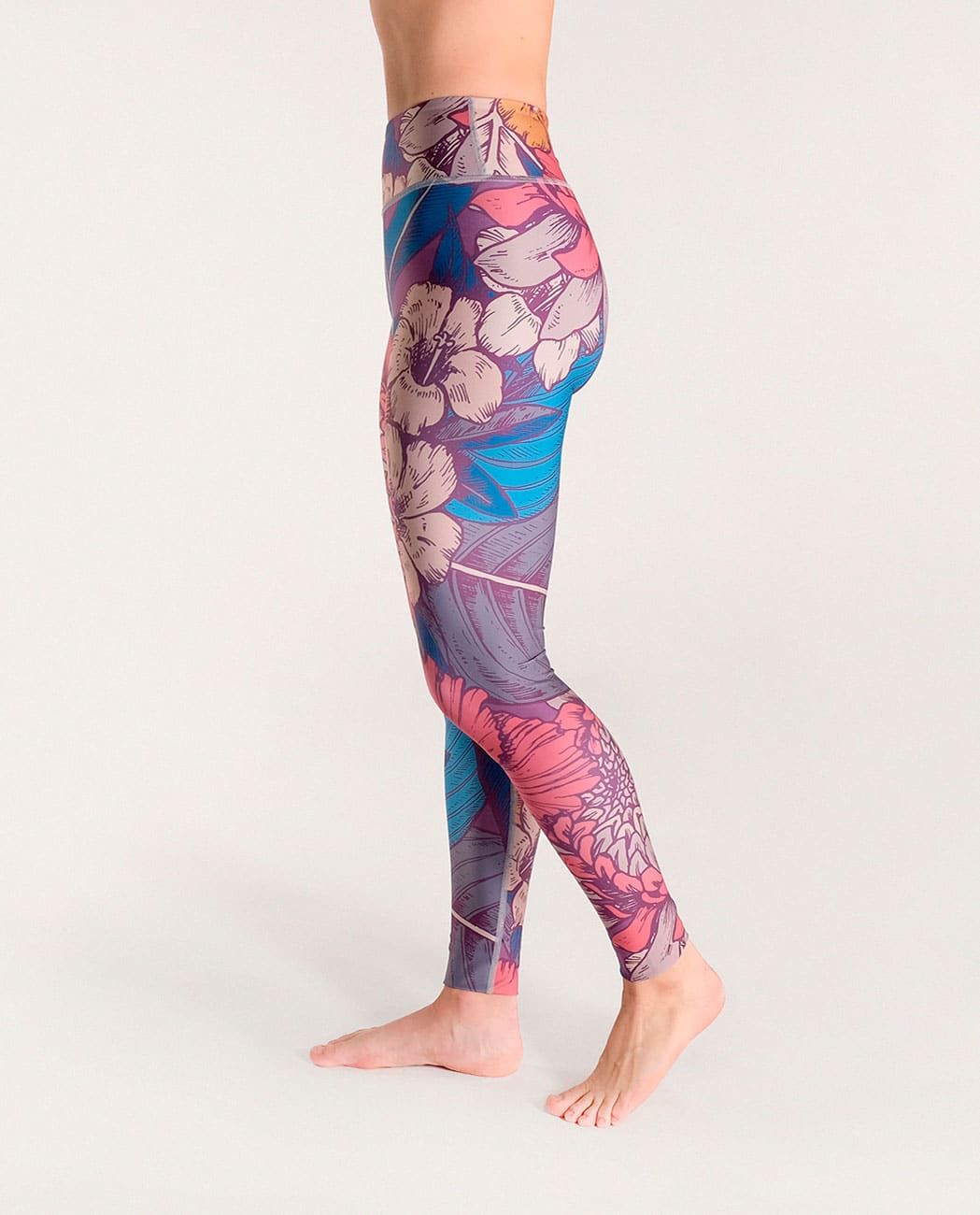 Blossom Yoga Leggings Komoshi Left