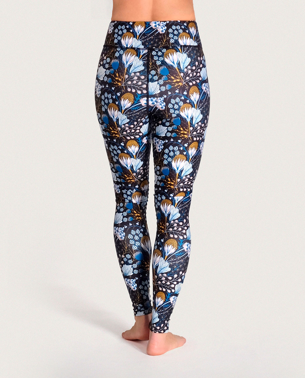 Flora Yoga Leggings Komoshi Back