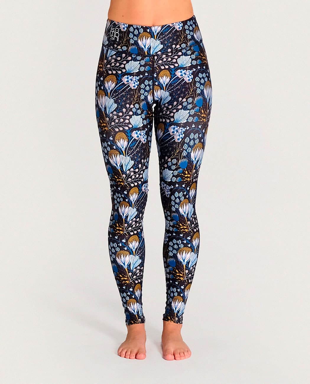 Flora Yoga Leggings Komoshi Front