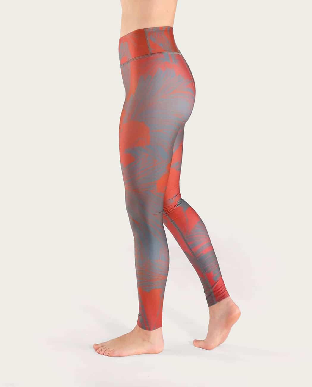 Hibiscus Yoga Leggings Komoshi izquierda