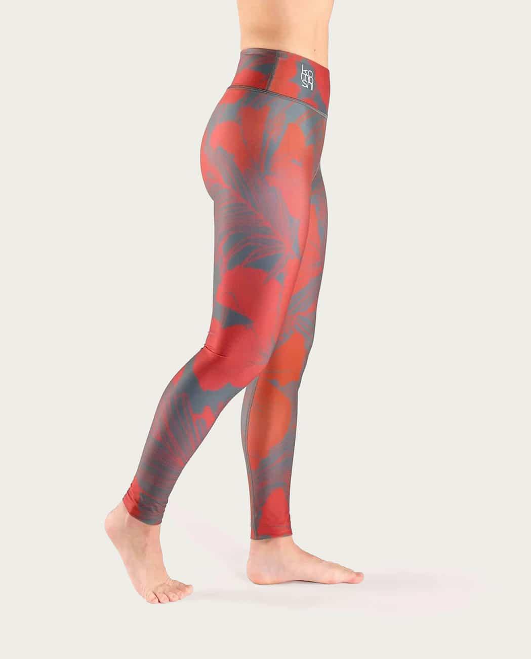 Hibiscus Yoga Leggings Komoshi Right
